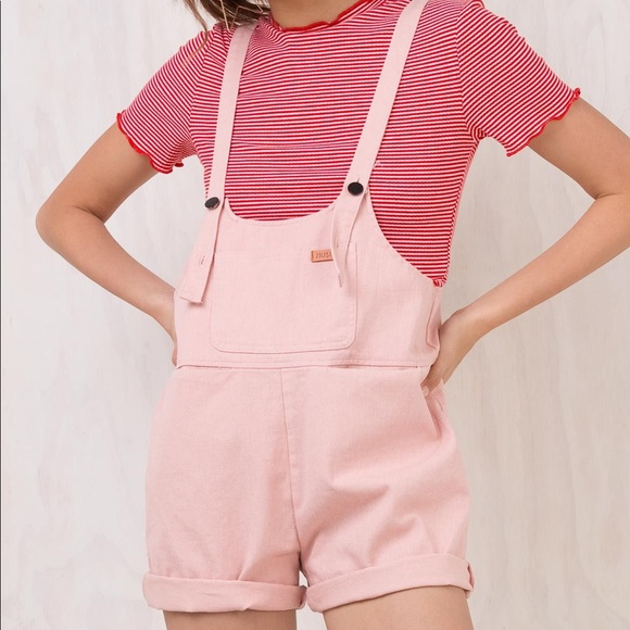 f740a03a94 Pink Denim Overalls